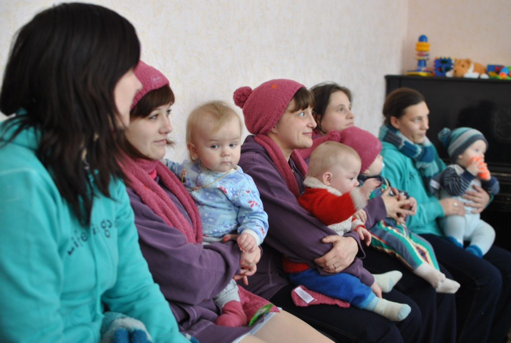 Clothing from Good360 was distributed to a women's shelter in the Ukraine.