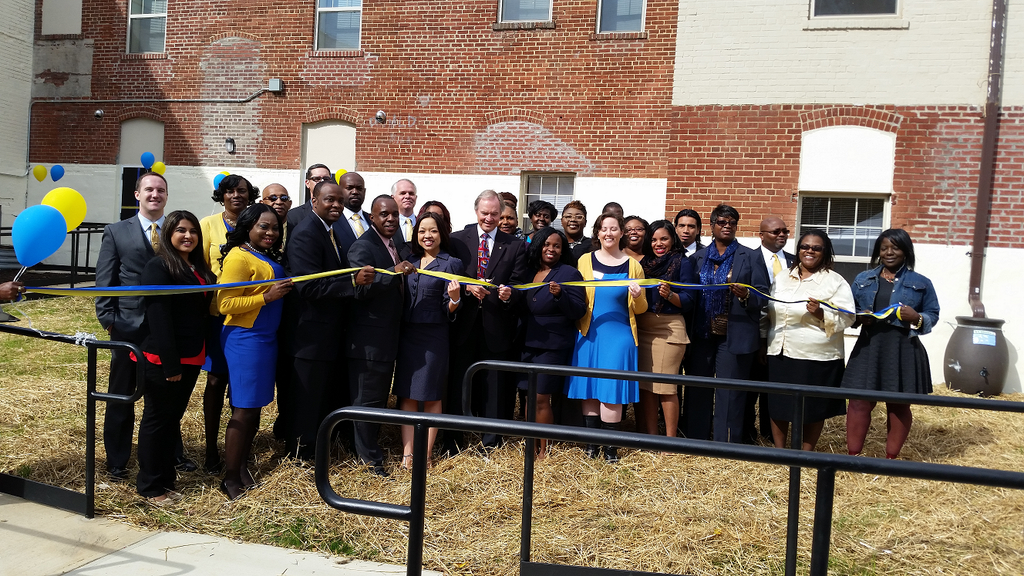 Ribbon cutting in Washington DC for a US Vets new 85-bed site for veterans. http://usvetsinc.org/washingtondc