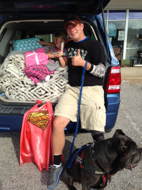 This Marine Veteran and single father of two kids had no furniture until getting a sectional sofa, bean bag and coffee table from the Williams-Sonoma donation, distributed by American Trooper.