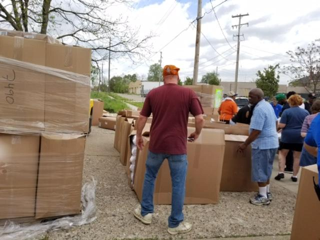 Pillow Donations Distributed to Flint Families In Need