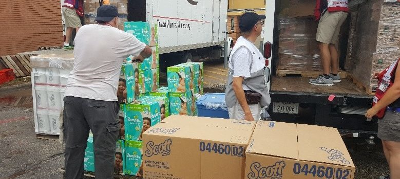Organizations Work Together to Distribute Supplies After Hurricane Harvey