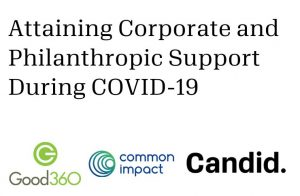 Attaining Corporate and Philanthropic Support During COVID-19
