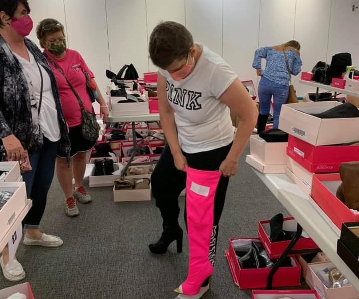 Breast Cancer Patients and Survivors Indulge in a Shoe Extravaganza
