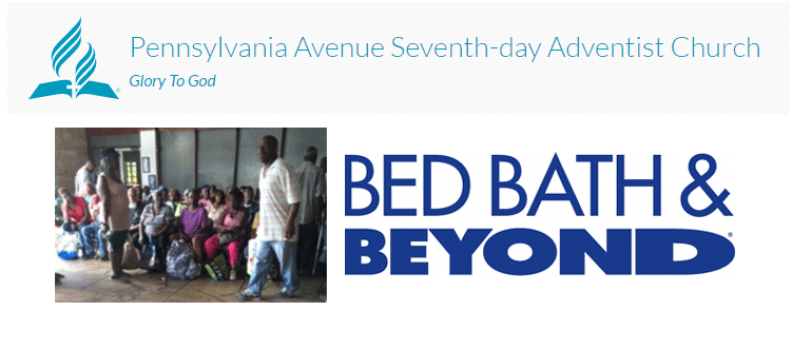 A Big Thanks to Bed Bath & Beyond!