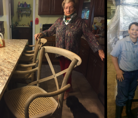 Flood Victims Are Given The Gift Of New Furniture